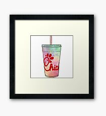 Chick-Fil-A Watercolor Framed Print