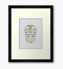 Sugar skull mexican folk art Framed Print