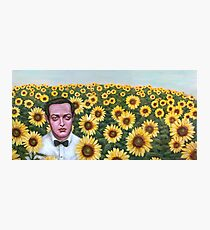 Peter and Sunflowers Photographic Print