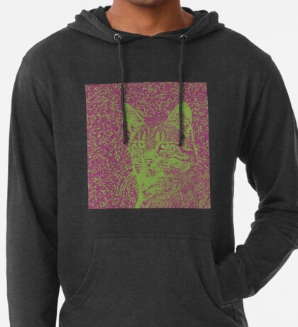 Portrait of cat, ninja Cat Sensei. 8-bit. Lightweight Hoodie