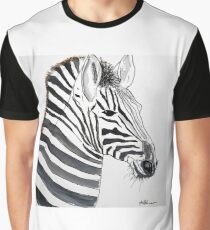 STRIPED - ZEBRA - WATERCOLOUR AND INK Grafik T-Shirt
