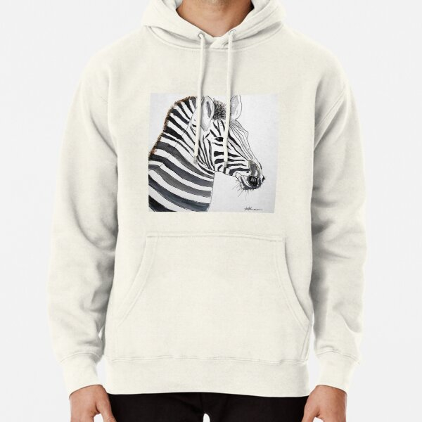 STRIPED - ZEBRA - WATERCOLOUR AND INK Hoodie