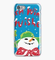 Snowboy's warm winter wishes iPhone Case/Skin