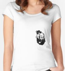 CRAZY GUY Women's Fitted Scoop T-Shirt