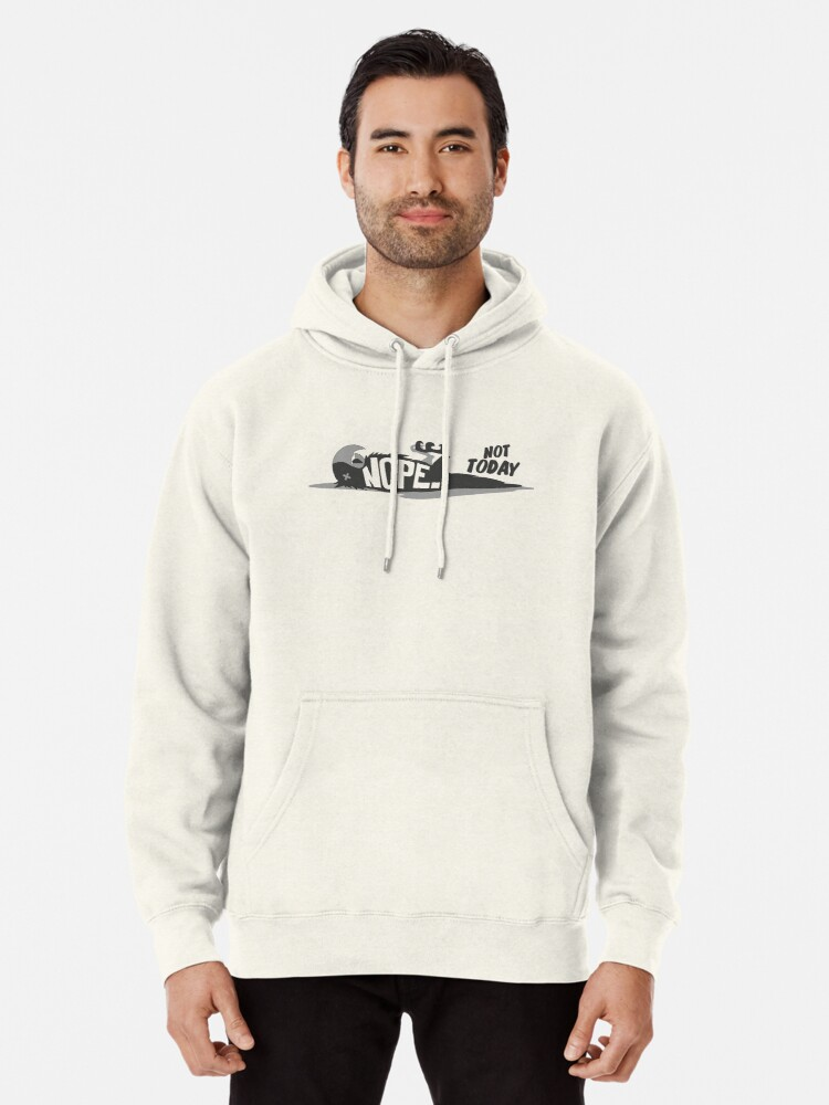 Hooded Sweatshirt Mens Cotton Pullover Fleece Hoodie Nope Not Today 5