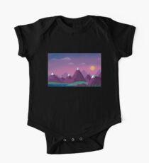 Minimalist Landscape One Piece - Short Sleeve