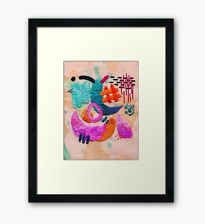 abstract embroidery Framed Print