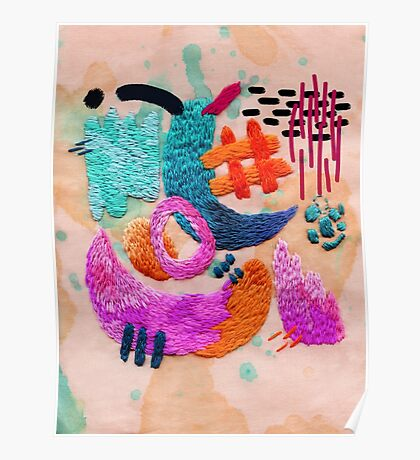abstract embroidery Poster