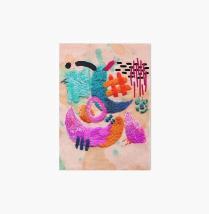 abstract embroidery Art Board