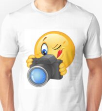 Cute and funny emoji photographer  Unisex T-Shirt