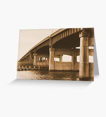 """Altamaha River Bridge"" Greeting Card"