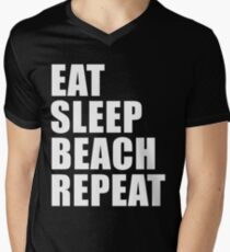 Eat Sleep Beach Repeat Cute Funny Gift For T Shirt Cute Funny Gift Beach Bum Surfer Surf Men Woman T-Shirt