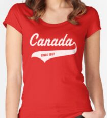 Happy 150th Birthday Canada! Women's Fitted Scoop T-Shirt