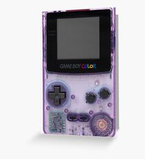 Purple translucent gameboy color Greeting Card