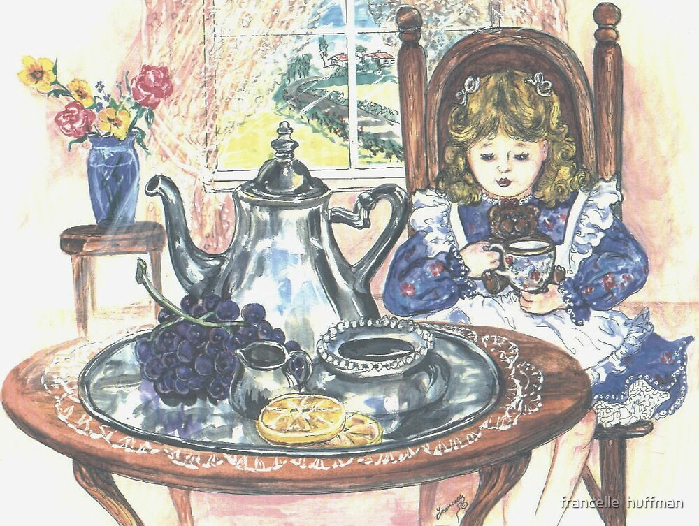 tea party with teddy by francelle  huffman