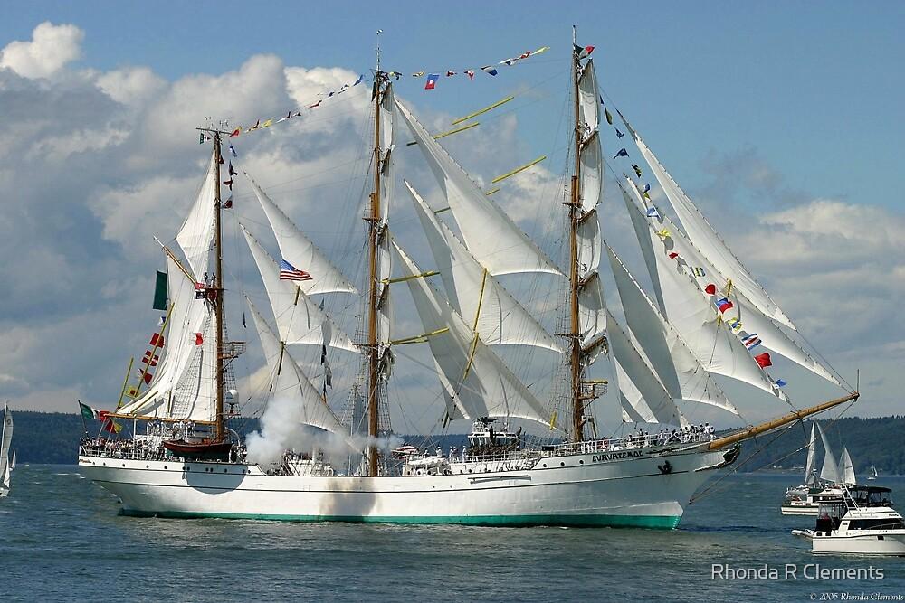 Tall Ship Cuauhtemoc by Rhonda R Clements