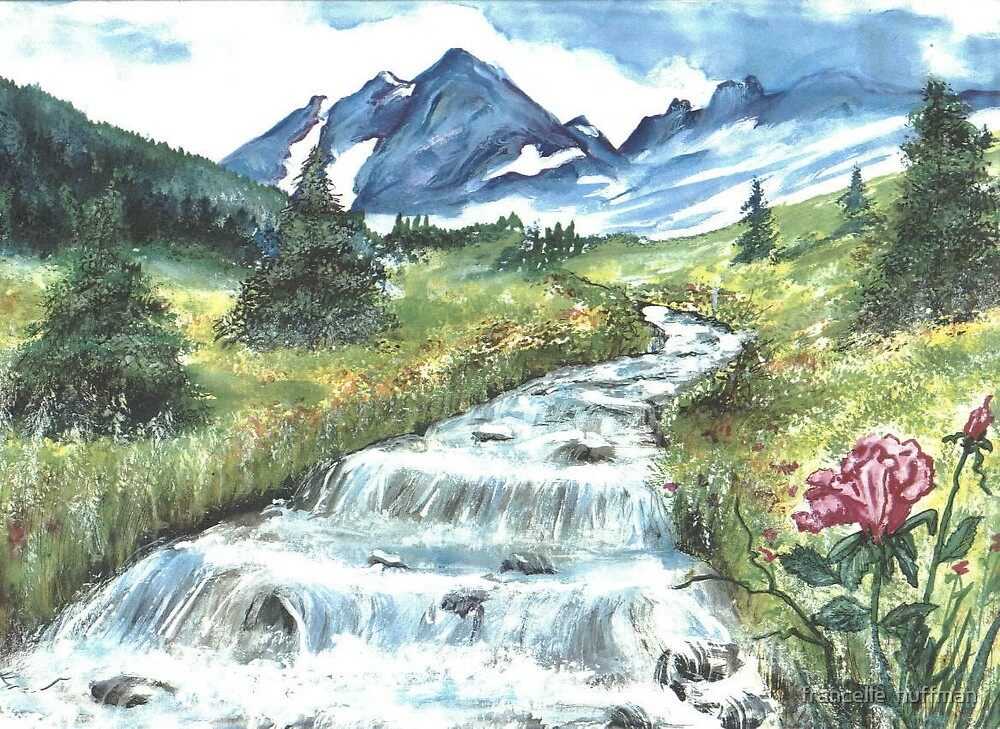 mount ranier stream by francelle  huffman