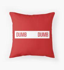 dumb dumb - red velvet Throw Pillow
