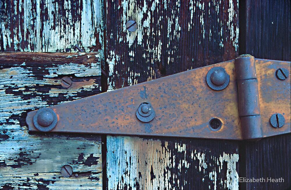 rusty hinge by Elizabeth Heath