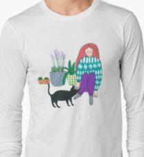 Gardening with a cat helper T-Shirt