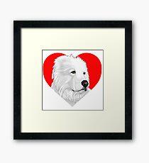 Albus Heart Framed Print