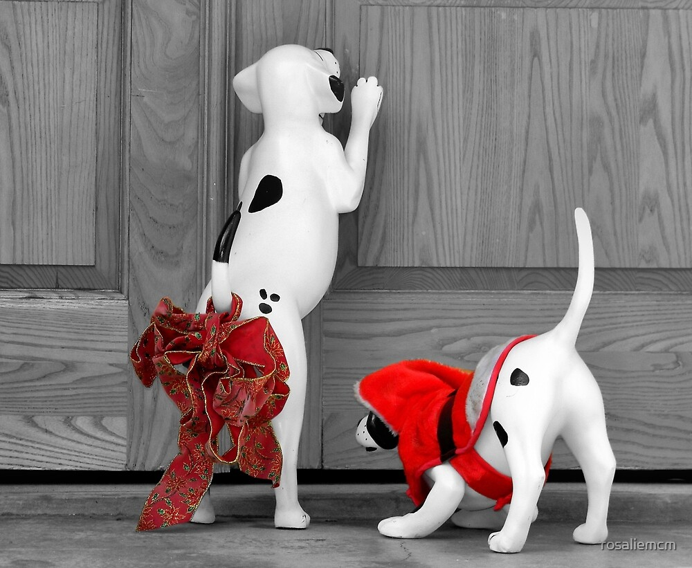 Christmas Pups by rosaliemcm