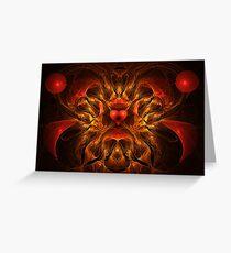 Flaming Passion Greeting Card