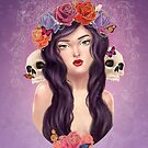Skulls and Roses by Valeia