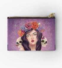Skulls and Roses Studio Pouch