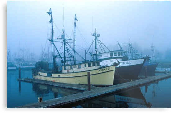 Fishing boats by Elizabeth Heath