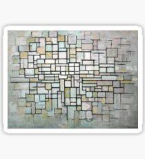 Piet Mondrian Composition No. II Sticker