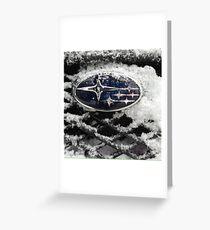 Subaru Greeting Card