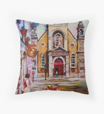 CANADIAN URBAN PAINTINGS MONTREAL SCENES BY CANADIAN ARTIST CAROLE SPANDAU Throw Pillow