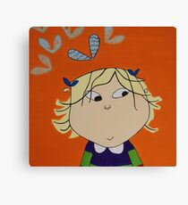Lola with Butterfly Kisses Canvas Print