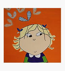 Lola with Butterfly Kisses Photographic Print