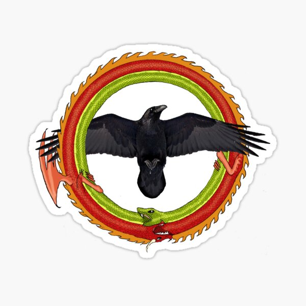 Raven Ouroboros 2 Sticker
