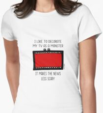 TV MONSTER Womens Fitted T-Shirt