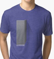 Glitch Groddle Land cubicle wall left Tri-blend T-Shirt