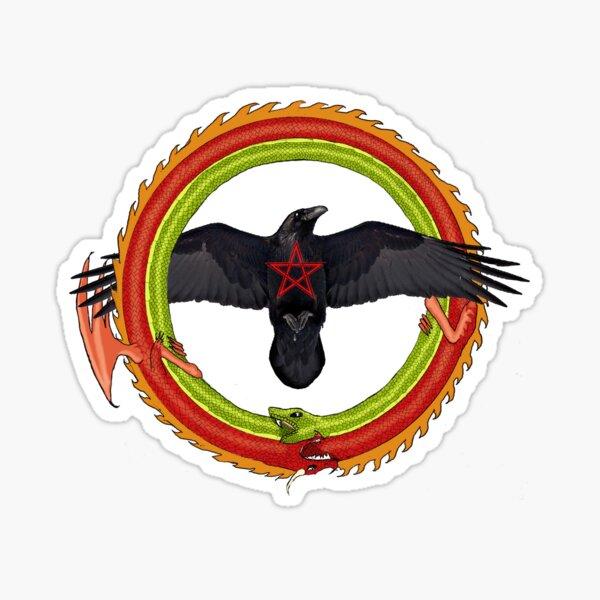 Raven Ouroboros Sticker