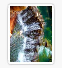 waterfall at busch gardens Sticker