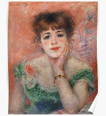 Auguste Renoir - Jeanne Samary (Also Known As La Reverie), 1877 Poster