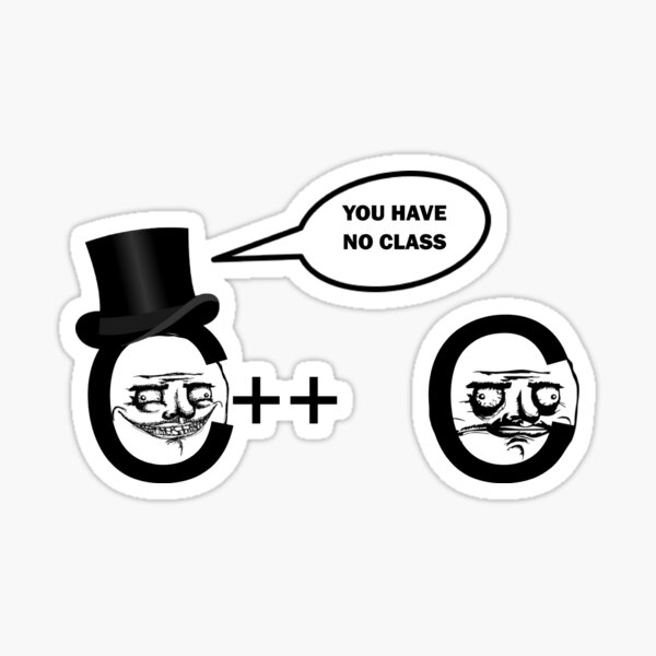 No Class Programming Joke Sticker