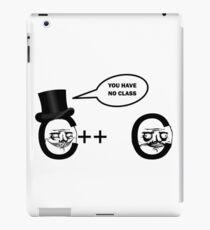 No Class Programming Joke iPad Case/Skin