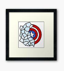 Captain America Geometric Framed Print