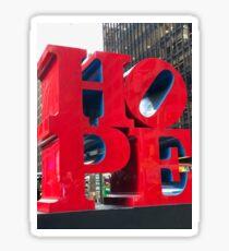 NYC HOPE Sculpture Sticker
