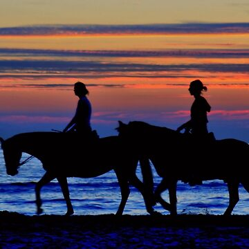 Sunset Horse Riding by Jokus