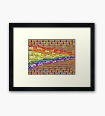 """Love Will Break Down All The Walls"" Framed Print"