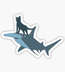 The Kitten and the Shark Sticker