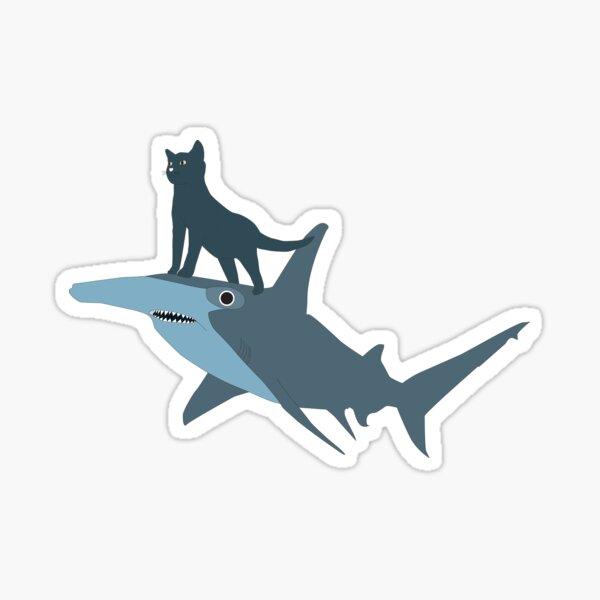 The Kitten and the Shark Sticker