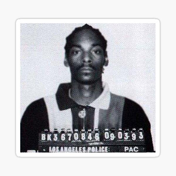 Snoop Mugshot Sticker